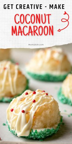 Coconut Macaroons are delicious, gluten-free cookies made with just a couple of ingredients. They are easy to make and come together in minutes.