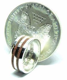 Handmade Irish wedding ring Jasper and American silver dollar coin Silver Eagle Coins, Silver Eagles, Irish Wedding Rings, Wedding Bands, Chakra Healing Stones, Silver Dollar Coin, Coin Ring, Stone Rings, Jasper