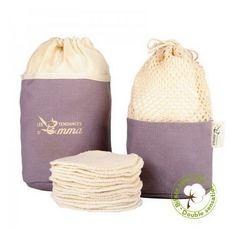 Kit Eco Belle Trousse + Coton Biface Kit, Coton Bio, Cotton, Bags, Mademoiselle, Alternative, Simple, Green, Nature