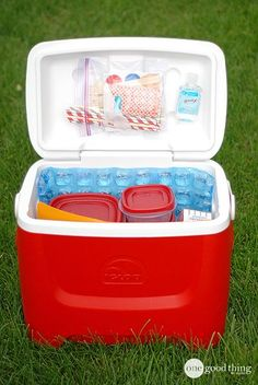 Tips for how to pack a cooler for efficiency and freshness!