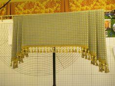 A Tailored Custom designed Valance for a sink window. Cute Curtains, Tassel Curtains, Kitchen Window Treatments, Custom Window Treatments, Valance Patterns, Valance Ideas, Drapery Ideas, Curtain Ideas, Kitchen Keeping Room
