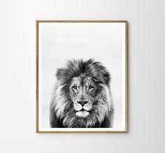Lion print, Nursery, Animal, Kids room, Modern art, Wall decor, Digital art, Printable, Digital poster Instant Download 8x10, 11x14, 16x20