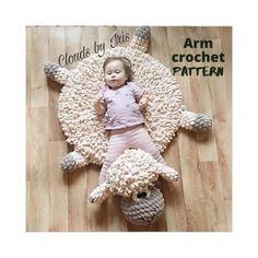 Finger Crochet, Finger Knitting, Arm Knitting, Knitting Needles, Crochet Sheep, Crochet Mat, Crochet Toys, Crochet Lovey, Easter Crochet