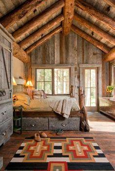 50 Rustic Ideas Dormitorio Decoración - http://www.decoracion2014.com/diseno-de-interiores/50-rustic-ideas-dormitorio-decoracion/ #espacios