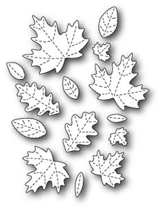 Poppy Stamps - Die - Fall Leaf Collage,$18.50