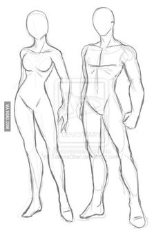 For those who have trouble drawing female and male bodies