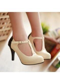 USD$15.26 Wholesale British vintage style fashion plus size shoes women pumps  rice  at martofchina.com