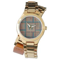 Autumn Chic Plaid Watch - red gifts color style cyo diy personalize unique