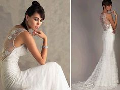 Low Back Lace Wedding Dress #4