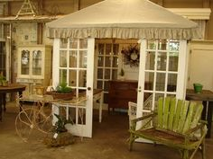 Booth inspiration. My imagination is in full throttle.