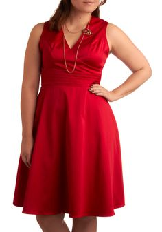 Beguiling Beauty Dress in Red - Plus Size | Mod Retro Vintage Dresses | ModCloth.com