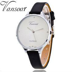 VANSVAR Leather Strap Women Wrist Watch Fashion Watch Hot Casual Quartz Watch Reloj Mujer Relogio Feminino Drop Shipping 1808