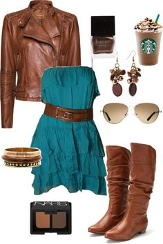 """CUTE."" by chelseawate on Polyvore, minus the starbucks!"
