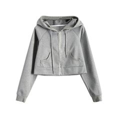Hooded Cropped Sports Jacket (35 CAD) ❤ liked on Polyvore featuring activewear, activewear jackets and sports activewear