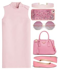 """3 Shades of Pink. 👗"" by madelienefashion ❤ liked on Polyvore featuring RED Valentino, Sam Edelman, ban.do and Humble Chic"