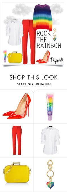 """Rainbow Contest"" by dashe-diva ❤ liked on Polyvore featuring Christian Louboutin, claire's, Emanuel Ungaro, Steffen Schraut, Miu Miu, Juicy Couture, women's clothing, women's fashion, women and female"