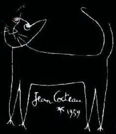 Portrait of a Cat Jean Cocteau