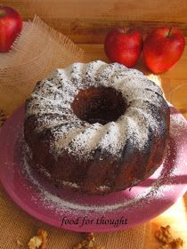 Food for thought: Κέικ Μήλου Apple Cake Recipes, Sweets Recipes, Cooking Recipes, Greek Cake, Greek Sweets, Crazy Cakes, Greek Recipes, No Bake Cake, Food For Thought