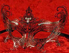 Luxury venetian metal mask
