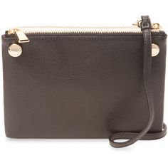 Furla Lilli Mini Crossbody (170 CAD) ❤ liked on Polyvore featuring bags, handbags, shoulder bags, multi, brown leather crossbody, brown shoulder bag, mini crossbody and leather shoulder bag