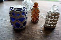 Crochet covered bottles