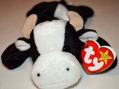 1993 Tush Tag Ty Original Beanie Baby Daisy Black White Cow 1994 DOB  Retired  18d899188929
