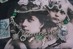 Multi Sterling silver Charm necklace,padlock charm, claddagh, Harp, Irish themed assemblage necklace, upcycled vintage estate jewelry, Royal Jewelry, Silver Jewelry, Jewellery, Unusual Jewelry, Handmade Jewelry, Wedding Symbols, Medieval Jewelry, Vintage Charm Bracelet, Claddagh