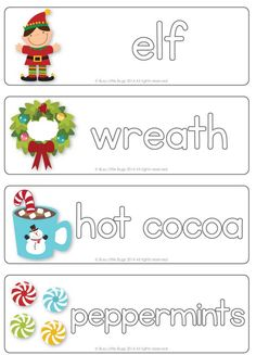 Learn to write Christmas words with these write & wipe Christmas vocab cards! #busylittlebugs #Christmas #christmasprintables #teacherspayteachers