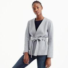 Belted sweatshirt bl