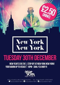 NEW YORK NEW YORK - NEW YEARS EVE PRE-PARTY 30.12.2014