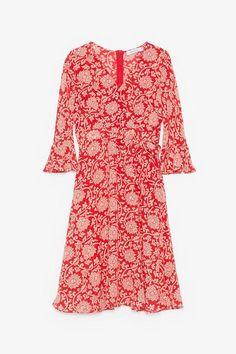 Floral V-Neck Midi Dress