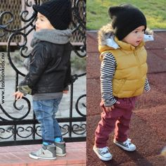Cute puffer vest. Fall boy kid fashion style