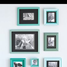 Revamped frames. http://www.myhomeideas.com/decorating/budget-style/budget-furniture-makeovers-10000001871099/repainted-picture-frames-10001391824714/