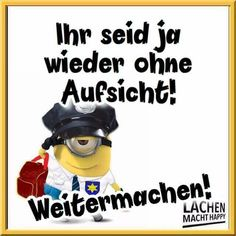 Lachen Macht Happy, Happy Minions, Motivation, Smiley, Facts, Funny, Fictional Characters, Emoji, Comic