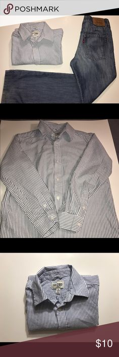 """Children's Place"""" Boys button up shirt Like new boys striped button up shirt Children's Place Shirts & Tops Button Down Shirts"""