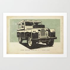 Land Rover Series II Art Print by dooderwear - $33.28