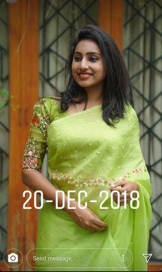 Whatsapp on 9496803123 to customise handwork and cutwork. Cutwork Saree, Brocade Saree, Half Saree Lehenga, Saree Dress, Silk Saree Blouse Designs, Saree Blouse Patterns, Saree Embroidery Design, Saree Floral, Wedding Silk Saree