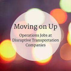 Operations Jobs at Disruptive Transportation Companies