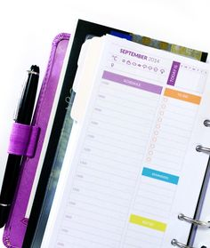 Some great planner printables, both for peronal and A5 sizes.