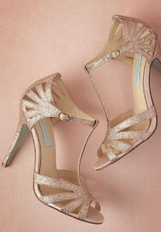 Rose gold 'Stardust' heels