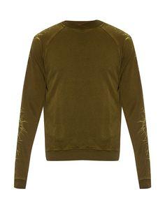 Perth thorn-embroidered cotton sweatshirt | Haider Ackermann | MATCHESFASHION.COM