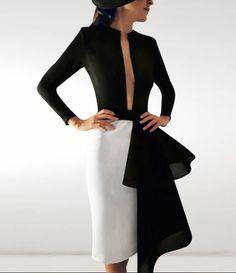 #robertodiz #tango #readytowear #collection #coctel #dress #vestido #fashion #mode #style #design #designer #invitada #invitadaperfecta #glamour #glam #elegance #wedding #seville #madrid #blackandwhite #fashionfromspain #paris  Available now in our shop  Headpiece Philip Treacy for Reyes Hellín