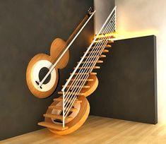 Escalera diseño guitarra