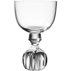 Lee Broom Half Cut Wine Glass Round ($93) ❤ liked on Polyvore featuring home, kitchen & dining, drinkware, clear, wine decanter, etched decanter, wine glass, wine stopper and etched wine glass