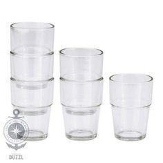 IKEA REKO Gläser (9cm); 6 Stück Trinkgläser Glas Wassergläser Saft Milchgläser