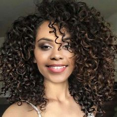 #RoseWholesale - #Rosewholesale Medium Side Bang Fluffy Colormix Afro Curly Synthetic Wig - AdoreWe.com