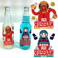 Red Russian Alcopop | 99designs