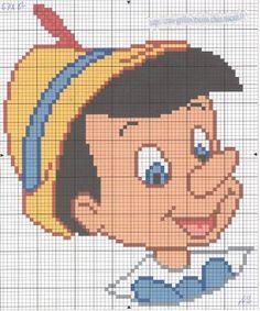 Pinocchio hama perler pattern