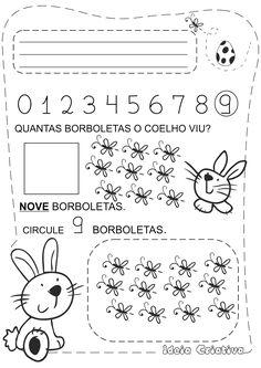Caderno de Atividades Páscoa Grátis - Pascoalino e os Numerais
