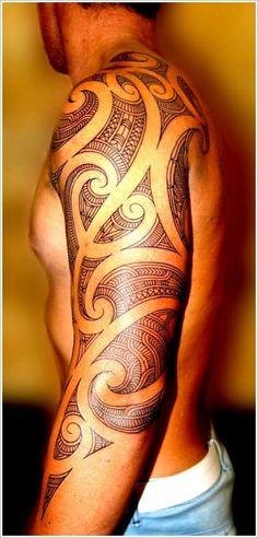 Tribal sleeve tattoo for men